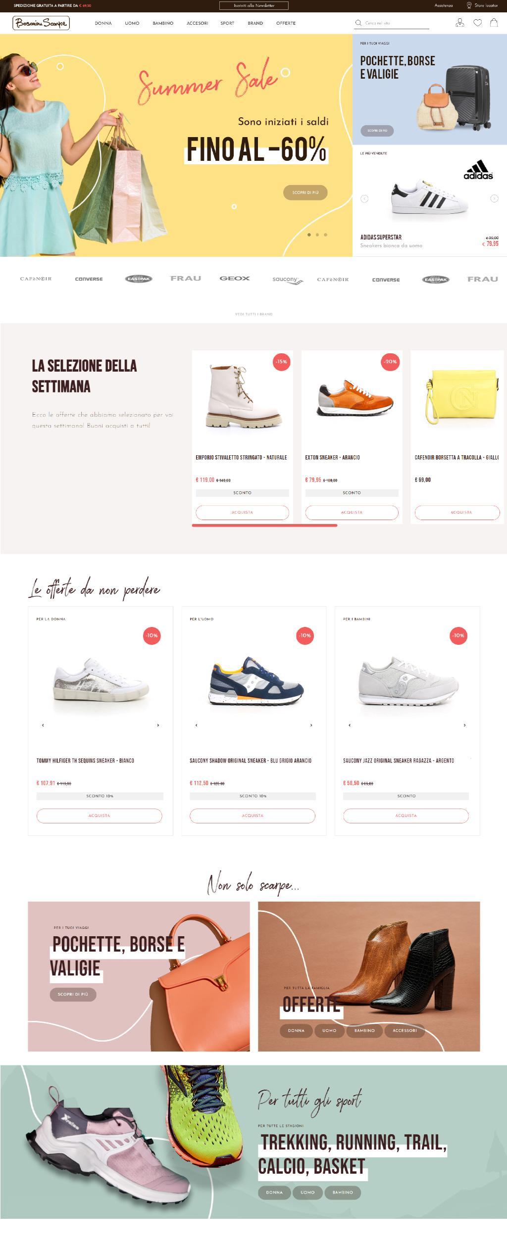 Homepage shop online