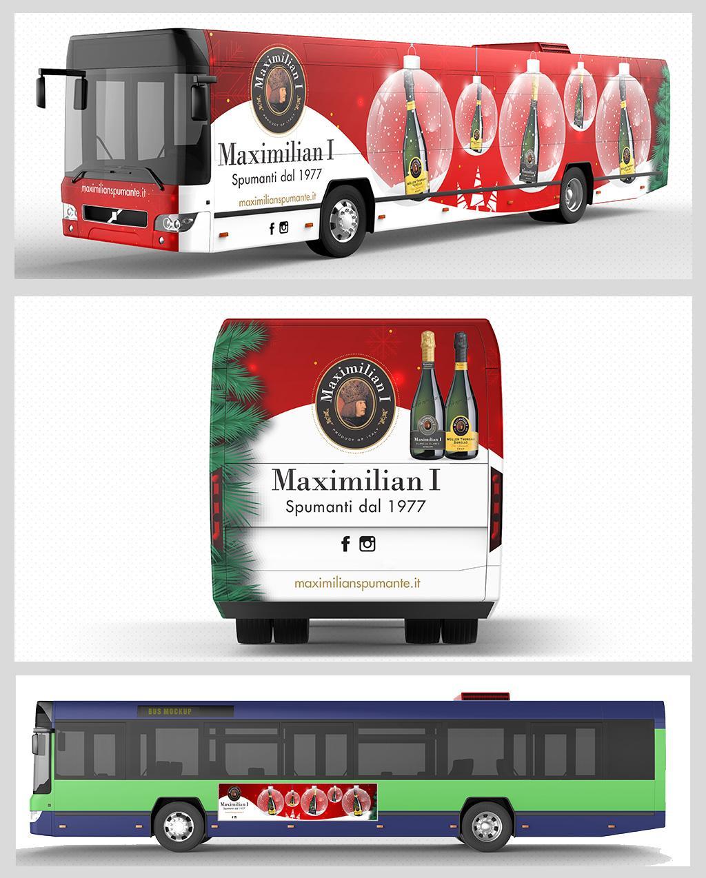 Campagna natalizia adv bus
