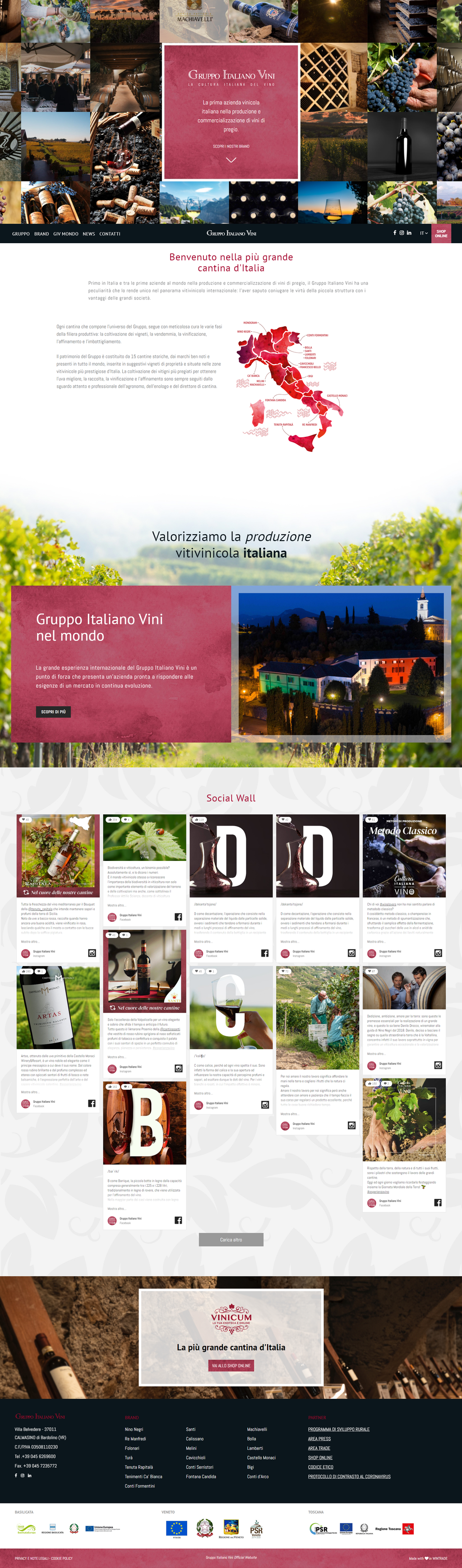 Homepage sito di gruppo