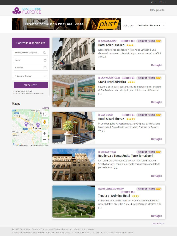 Booking elenco strutture