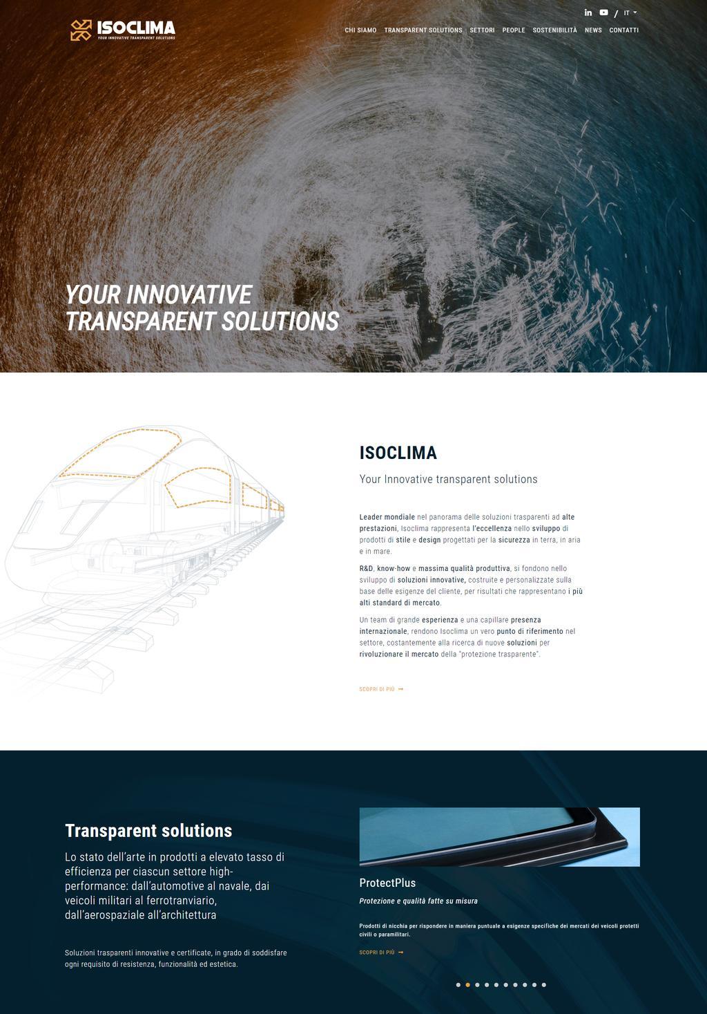 Homepage sito istituzionale